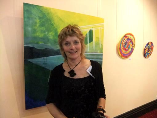 Shar Young, alongside her work in the Vincents Annual Exhibtion at the St James Theatre Gallery, Wellington