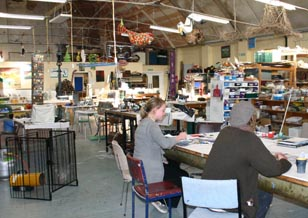 Artsenta's large studio space