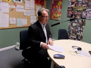 Richard Benge at Wellington Access Radio
