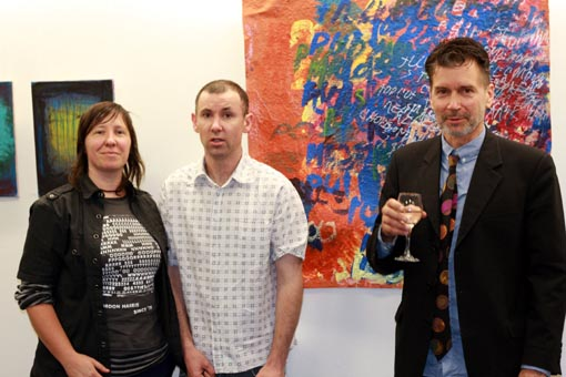 Shaun O'Riordan, Joanne Ridley and Stuart Shepherd at the opening of