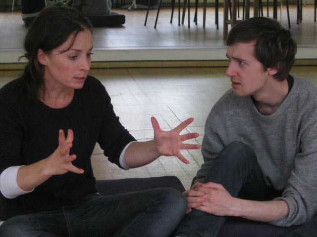 "Jodie Hillock and Leon Wadham in ""TRIBES"""