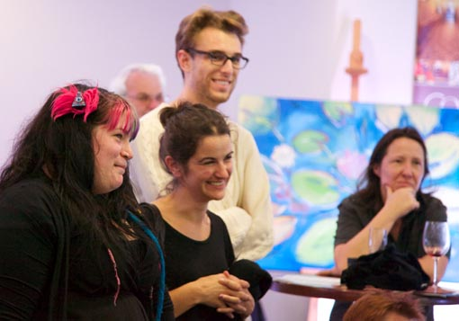 Alpha Art Studio enjoys the auction