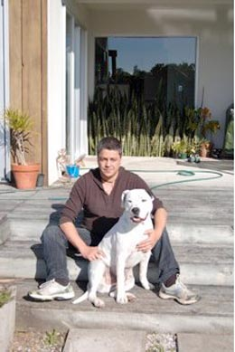 Brody Runga and his dog, Ice