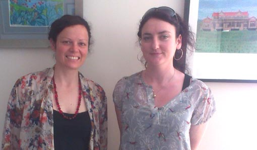 Claire Noble, Community Development Co-ordinator, Arts Access Aotearoa, with Bridget Donoghue, Way Out West