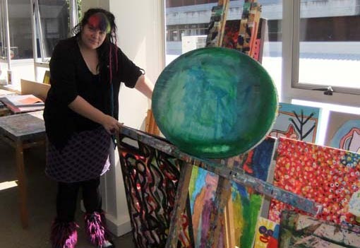Eryn Gribble, artist and arts facilitator, Alpha Art Studio