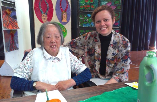 Artist Laan Chau and Claire Noble, Arts Access Aotearoa