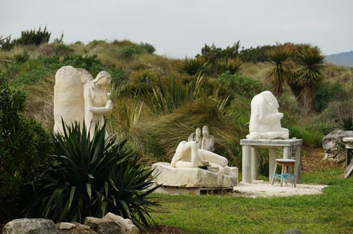 Bon Suter's sculpture garden in Brighton