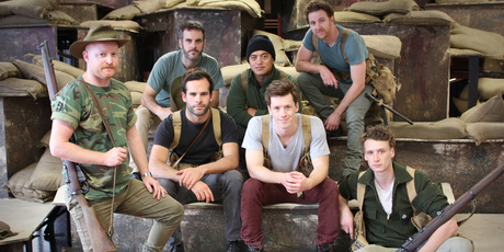 Some of the cast in Once On Chunuk Bair