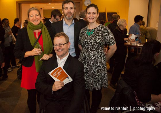 Arts Access Aotearoa trustee Kendall Akhurst and guests