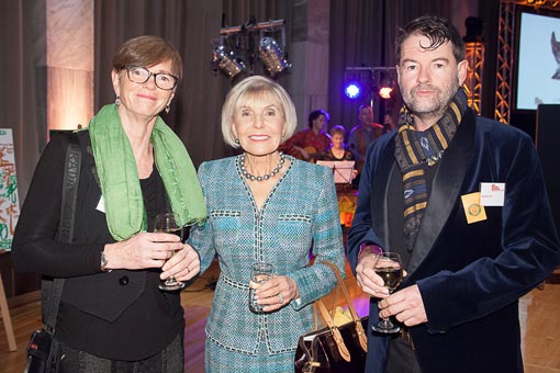 Karen Webster, Dame Rosie Horton and Andrew Lush