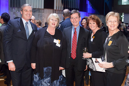 Greg Sayer, Julia Partfitt, Hon Christopher Finlayson, Lisa Whyte and Lesley Jenkins
