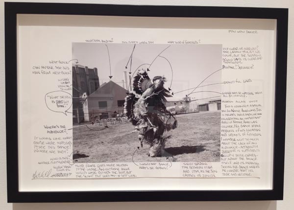 An artwork in the San Quentin Prison Report exhibition