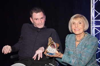 Phillip Patston and Dame Rosie Horton, award patron