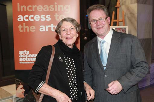Richard Benge, Arts Access Aotearoa with Ann Brosnahan, Rehabilitation Welfare Trust