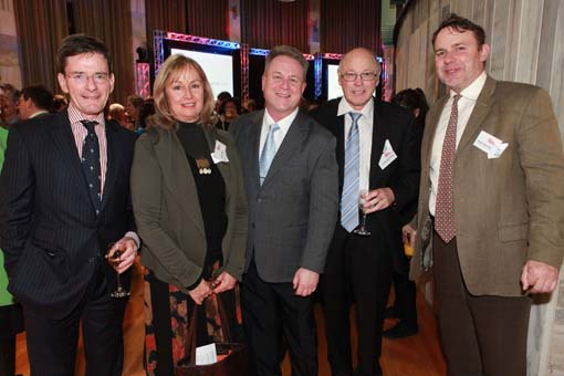 Richard Benge with the Hon Christopher Finlayson, Helen Kedgley, John Davidson and Stephen Wainwright