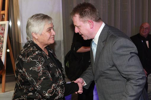 The Hon Tariana Turia and Richard Benge
