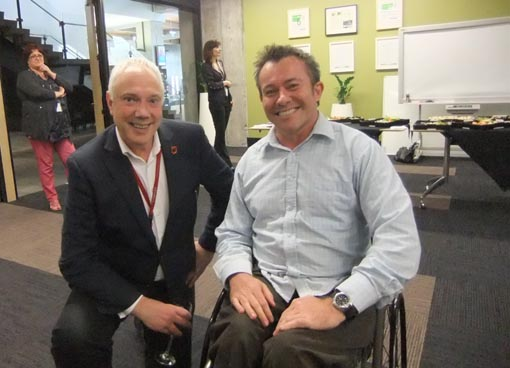 Mayor Bob Parker and Cam Scott, Disability Advisor, Christchurch City Council