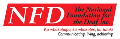 The National Foundation for the Deaf logo