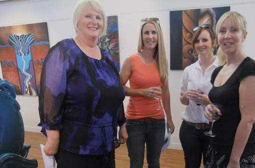Julia Parfitt and guests at the opening
