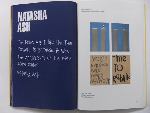 Work by Natasha Ash in the exhibition catalogue