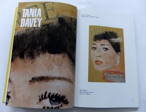 Work by Tania Davey in the exhibition catalogue