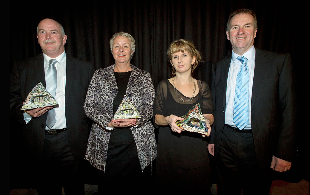 From left: Mark Lynds, Ellie Drummond, Sharon Hall and David Wales