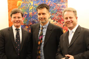 From left: the Hon Christopher Finlayson, Stuart Shepherd and Richard Benge  Photo: Alison Jones