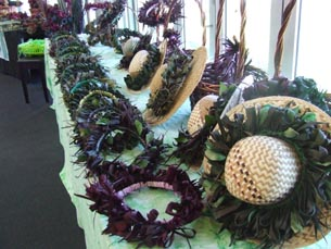 Crafts on display at the Polynesian Art Creation graduation
