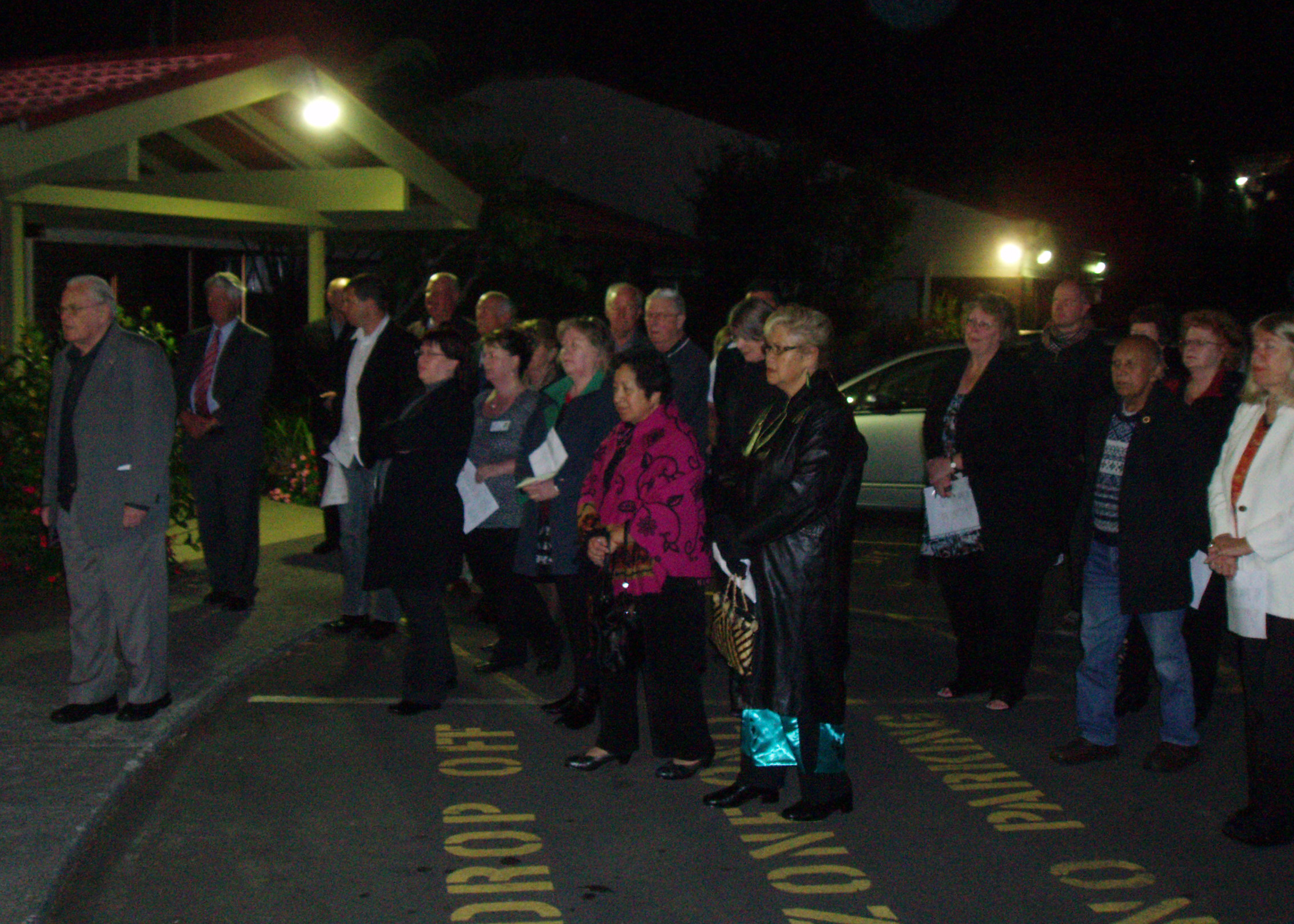 The dawn ceremony at North Shore Hospice to bless the works