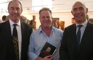 Richard Benge, Arts Access Aotearoa (centre), with Eric Fairbairn and Terry Buffery, Department of Corrections