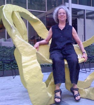 Phyllis Kornfeld in the sculpture garden at the Museum of Modern Art in New York