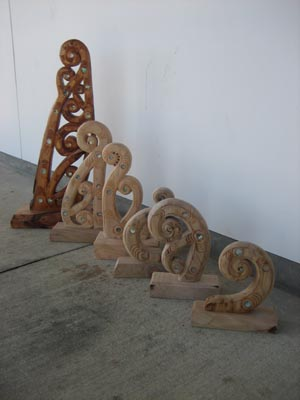 Carvings by a prisoner at Northland Region Corrections Facility