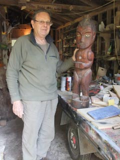 Coordinator Rob Reed uses his knowledge and research of Maori culture, customs and mythology to inspire the children's designs and carvings.