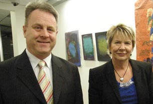 Richard Benge, Executive Director, Arts Access Aotearoa with MP Nicky Wagner