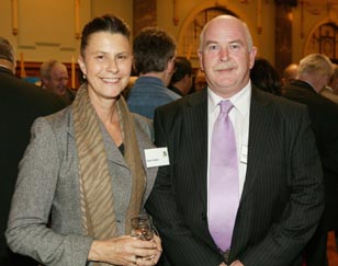 Robyn Hughes with Mark Lynds, 2009 recipient of the Big 'A' Prison Arts Leadership Award