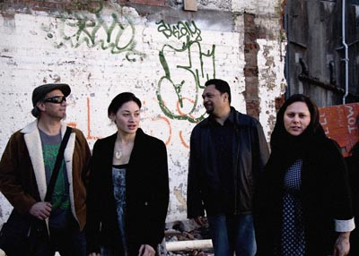 From left: Warren Maxwell, Anika Moa, Ruia Aperahama and Maisey Rika