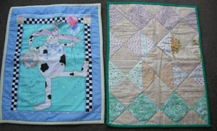 Two quilts made for the neonatal ward at Middlemore Hospital