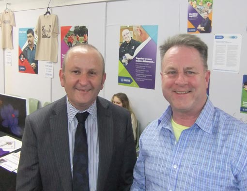 Ian Bourke, Southern Regional Manager, and Richard Benge, Arts Access Aotearoa